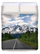 Road To Valdez Duvet Cover