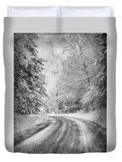 Road To Winter Duvet Cover