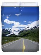 Road To Worthington Glacier Duvet Cover