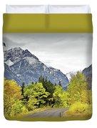 Road Too Autumn Duvet Cover