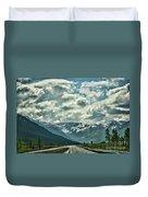 Road Travel Alaska Color  Duvet Cover