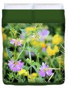 Roadside Bouquet Duvet Cover