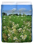 Roadside Bouquet Of Wildflowers In Mchenry County Duvet Cover