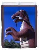Roadside Dinosaur Duvet Cover