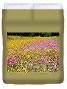 Roadside Flower Garden Duvet Cover