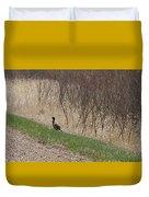 Roadside Rooster Pheasant Duvet Cover