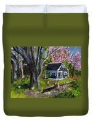 Roadside Vegetable Stand Off Season Duvet Cover