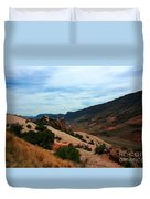 Roadway Rock Formations Arches National Park Duvet Cover