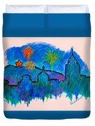 Roanoke In Blue Duvet Cover