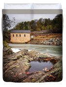 Roanoke River Niagra Rd Dam Duvet Cover