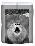 Roar  Black And White Duvet Cover