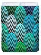 Roaring 20's Turquoise Duvet Cover