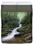 Roaring Fork Falls Duvet Cover