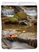 Roaring Fork Stream Great Smoky Mountains Duvet Cover