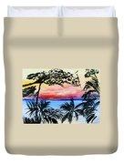 Roatan Sunset Duvet Cover