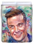 Robbie Williams Portrait Duvet Cover