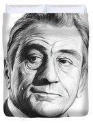 Robert De Niro 17aug18 Duvet Cover