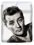 Robert Mitchum, Vintage Actor Duvet Cover