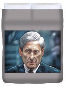 Robert Mueller Portrait , Head Of The Special Counsel Investigation Duvet Cover