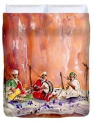 Robert Plant And Jimmy Page In Morocco Duvet Cover