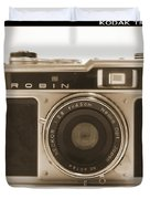 Robin 35mm Rangefinder Camera Duvet Cover by Mike McGlothlen