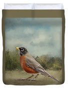 Robin Abstract Background Duvet Cover