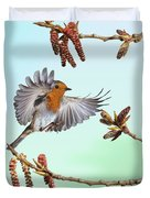 Robin And Poplar Duvet Cover