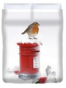 Robin And Postbox Duvet Cover