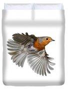 Robin In Flight Duvet Cover