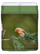 Robin In The Garden Duvet Cover