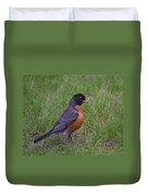 Robin On The Lawn Duvet Cover