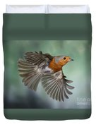 Robin On The Wing Duvet Cover