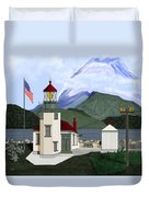 Robinson Point With Mount Rainier Duvet Cover