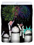 Robo-x9 And Family Celebrate Freedom Duvet Cover