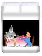 Robot Dining Cartoon Duvet Cover