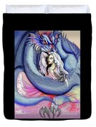 Robot Dragon Lady Duvet Cover
