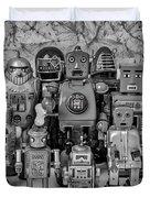 Robot Family Duvet Cover