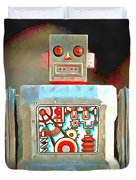 Robot Pop Art R-1 Duvet Cover