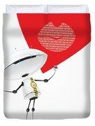 Robot Romantic Duvet Cover