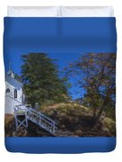 Roche Harbor Chapel In San Juan Island Duvet Cover