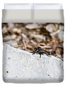 Rock And Robber Fly Duvet Cover