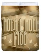 Rock And Roll 1968 Duvet Cover