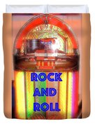 Rock And Roll Jukebox Duvet Cover
