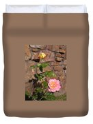 Rock And Rose Duvet Cover