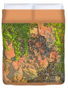 Rock And Shrub Abstract I  Duvet Cover