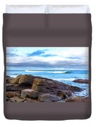 Rock And Wave Duvet Cover