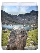 Rock At Abyss Lake Duvet Cover