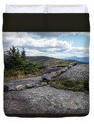 Rock Boundaries On Casecade Mountain Keene Ny New York Duvet Cover
