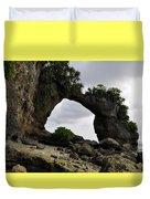 Rock Bridge At Neil Island Duvet Cover