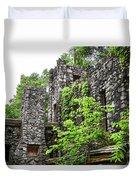 Rock Castle Fireplace Duvet Cover
